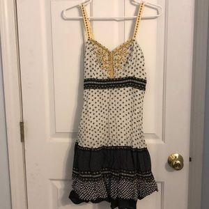Black and White floral Free People Sundress